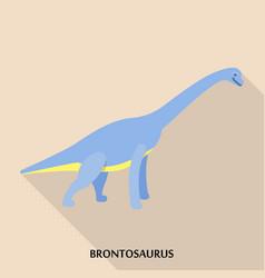 brontosaurus icon flat style vector image