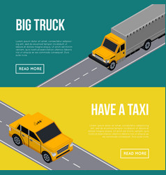 city traffic flyers with cars in road vector image