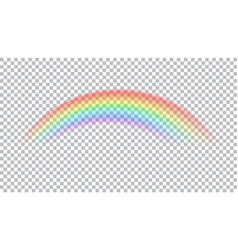 Colored transparent rainbow vector
