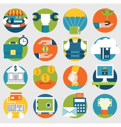 Commerce and Savings icons for design vector image