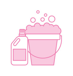 Detergent bottle with pot vector