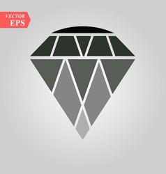 Diamond icon diamond icon on white background vector