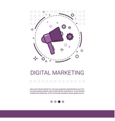 digital marketing vision business idea banner with vector image