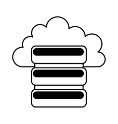 disk server isolated icon vector image