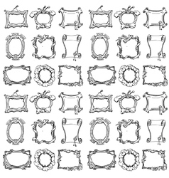 Doodle frames Seamless pattern vector