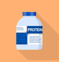 Eco protein jar icon flat style vector