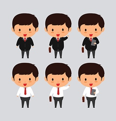 Elegant young business man vector image