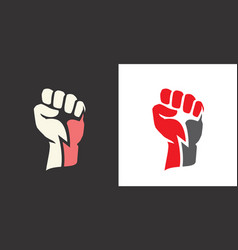 fist clenched power strength icon logo vector image