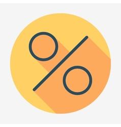Flat style icon percent symbol vector image