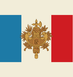 french coat of arms and flag vector image