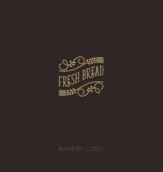 Fresh bread logo bakery emblem vector