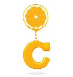 fresh orangevitamin c vector image