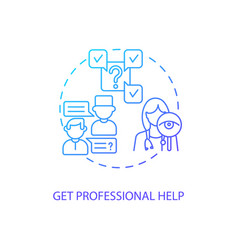 get professional help concept icon vector image