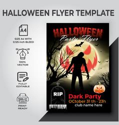 Halloween party flyer design template vector