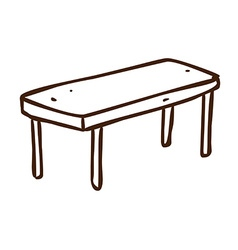 Hand Drawn Table vector image