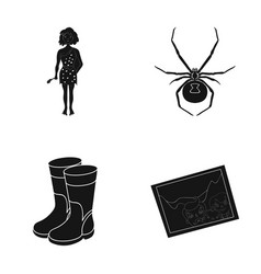history nature art and other web icon in black vector image