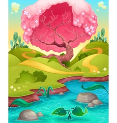 Landscape in the countryside vector image