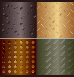 metal pattern - set four vector image