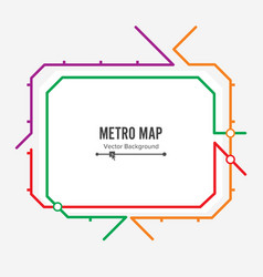 Metro map fictitious city public transport vector