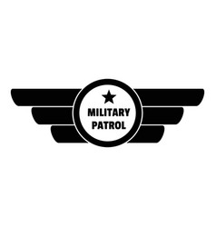Military patrol logo simple style vector