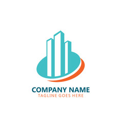 modern building city logo vector image
