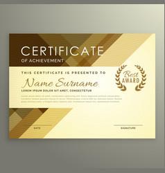 modern certificate design in premium style vector image
