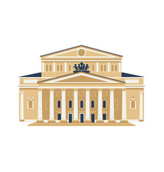 moscow city symbol bolshoy theatre isolated on vector image