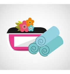 Natural spa center icons vector