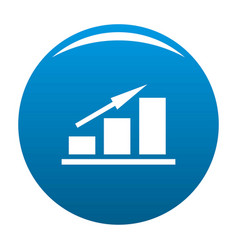 new chart icon blue vector image