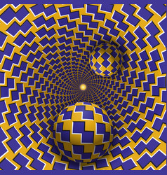 Optical two balls are moving in vector