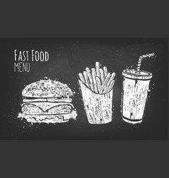 Outline fastfood for design vector