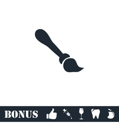 Paint brush icon flat vector