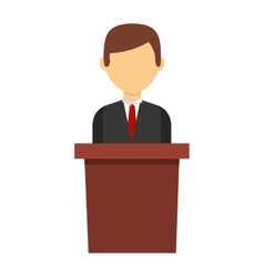 podium candidate isolated icon design vector image