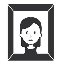 portrait with woman picture vector image