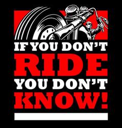 Ride vector