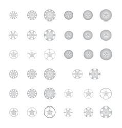 Set alloy wheel vector