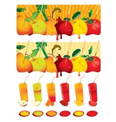 set juice vector image