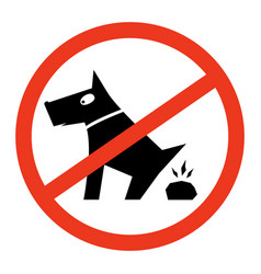 Sign prohibiting dog walking vector