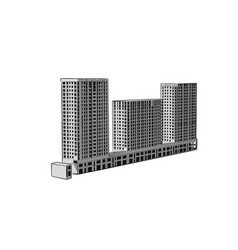 sketch construction site city hand draw vector image