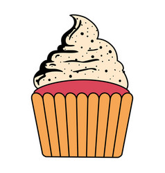 sweet cupcake pastry isolated icon vector image