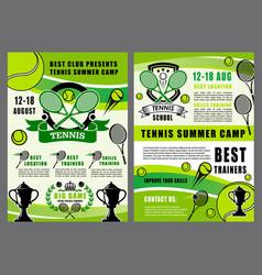 Tennis sport school camp game tournament vector