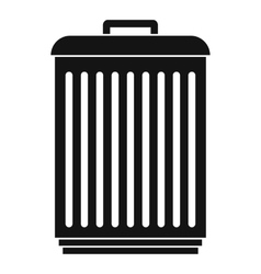 Trashcan icon simple style vector
