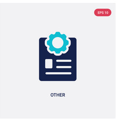 Two color other icon from content concept vector
