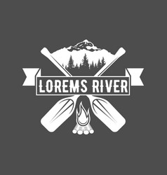 vintage canoeing logo vector image