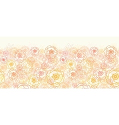 Warm flowers horizontal seamless pattern vector image