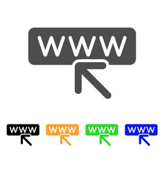 Website address flat icon vector