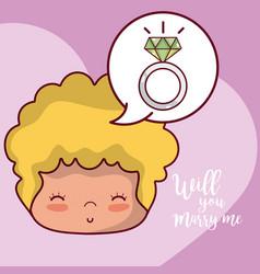 wedding proposal card vector image