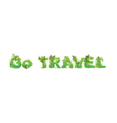word go travel with capital vector image