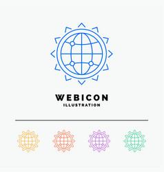 world globe seo business optimization 5 color vector image