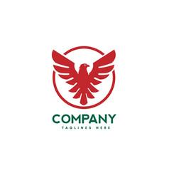 Eagle bird with circle logo vector